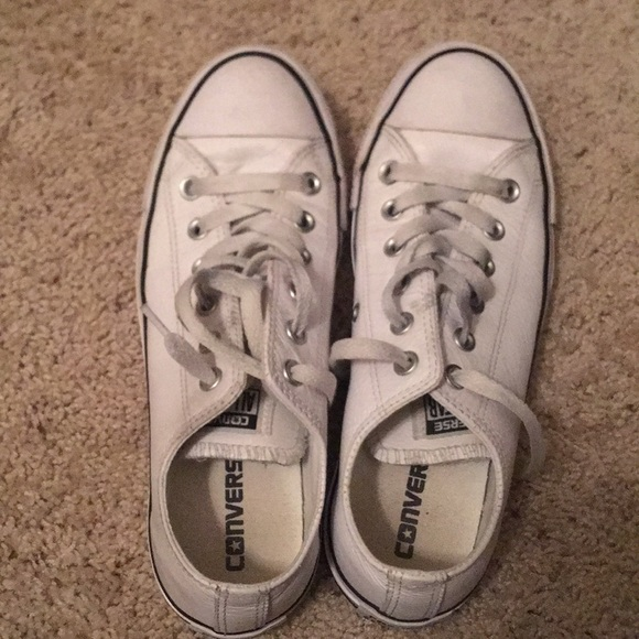 Converse Shoes | White Leather Converse